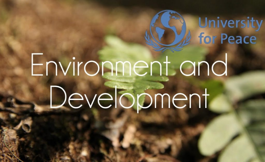 MA In Environment, Development And Peace