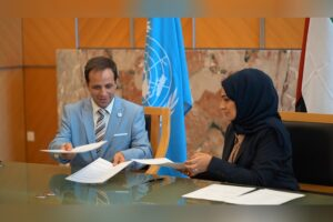 """General Share Emirates Diplomatic Academy Signs MoU with University for Peace to Enhance Future Collaboration Mon 07/9/2020 In partnership with the Permanent Mission of the UAE to the United Nations in Geneva, the Emirates Diplomatic Academy (EDA) signed an MoU with University for Peace (UPEACE) to set up a shared platform to launch several projects aimed at strengthening research and academic collaboration between both entities, and to support EDA's efforts to train and empower future Emirati diplomats. Her Excellency Lubna Qassim Al Bastaki, Deputy Permanent Representative of the Permanent Mission of the UAE to the United Nations – on behalf of EDA, and His Excellency David Fernandez Puyana, Ambassador and Permanent Observer of the UN University for Peace to the UN Office at Geneva and the UNESCO headquarters in Paris. Commenting on the partnership, Dr. Mariam Ibrahim Al Mahmoud, EDA's Deputy Director General said: """"At Emirates Diplomatic Academy, we are committed to providing the highest standards of academic education to our future diplomats. In enhancing our collaboration with a prestigious academic and research institution like UPEACE, we are taking a significant step towards achieving our strategic goals and actively contributing to the UN Sustainable Development Goals."""" For her part, H.E. Al Bastaki said: """"I am proud to celebrate the partnership of EDA and UPEACE out of the UN in Geneva. The UAE Mission to UN in Geneva has worked closely with UPEACE to contribute to the realization of peace and a sustainable future and advancement of 2030 Agenda for SDG. This partnership brings the UAE closer to the UN as we continue to work within the multilateral space and shares goals to develop knowledge and skills for our UAE diplomats."""" For his part, Prof. Francisco Rojas Aravena, Director of UPEACE, said: """"The MoU signed today will allow us to train new leaders for peace, hailing from diplomacy and society. It also opens up new opportunities for collaboration that str"""
